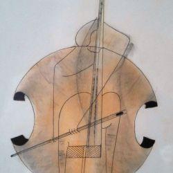 Solitude-Drawing-on-paper-2006-elisha-ben-yitzhak