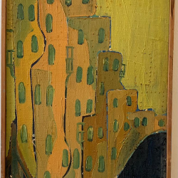 """""""Jerusalem"""", oil on canvas 1968"""