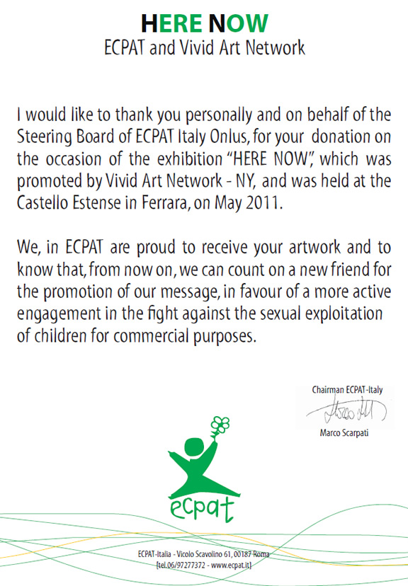Elisha ben yitzhak receives appreciation letter from ecpat elisha i would like to thank you expocarfo Gallery