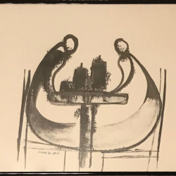 """Mood"" Ink on paper 1983"
